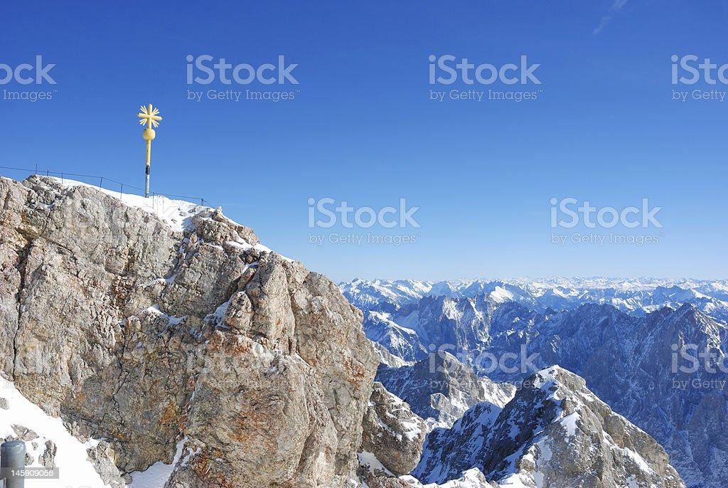 summit Zugspitze royalty-free stock photo