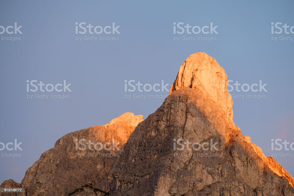 summits of Monte Pelmo stock photo