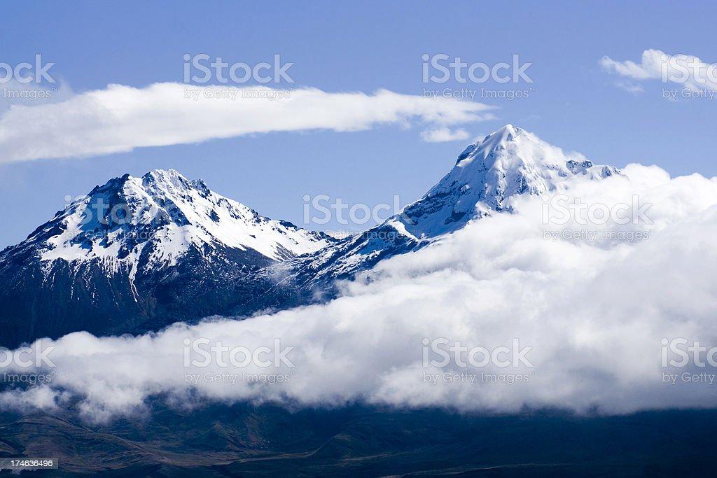 Summits of the Iliniza volcano royalty-free stock photo