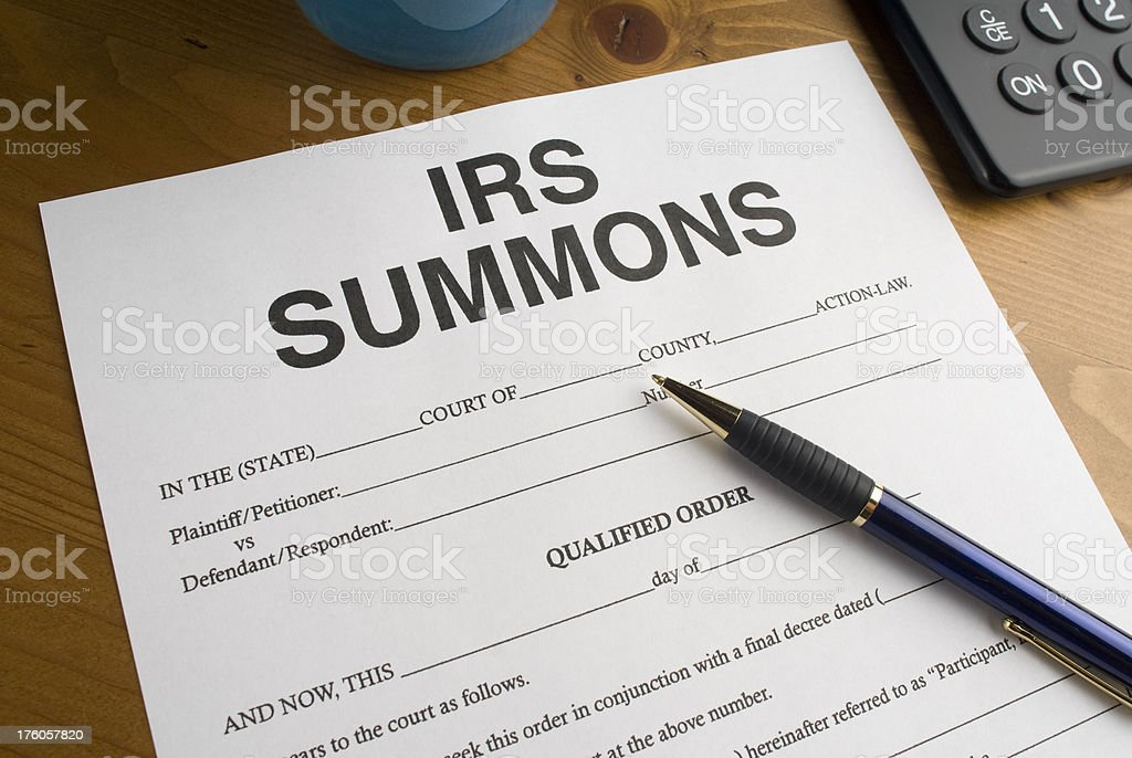 Summons from the IRS royalty-free stock photo