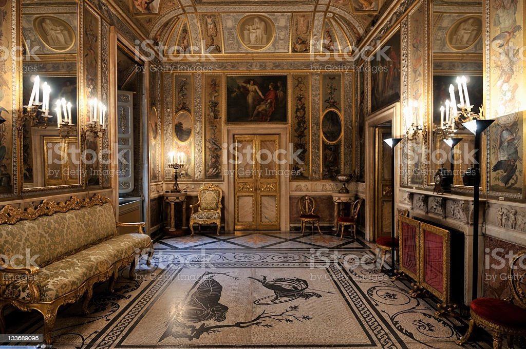 Sumptuous Baroque Interior stock photo