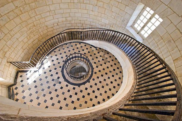 sumptuous lighthouse stairway stock photo