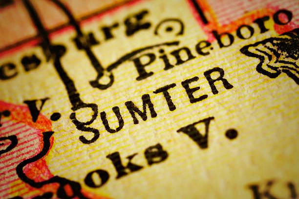 sumter | florida county maps - charleston sc map stock photos and pictures