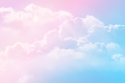 istock Sun and cloud background with a pastel colored 1160134499