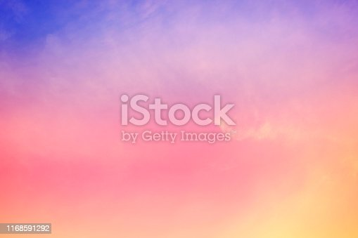istock sun and cloud background with a pastel colored 1168591292
