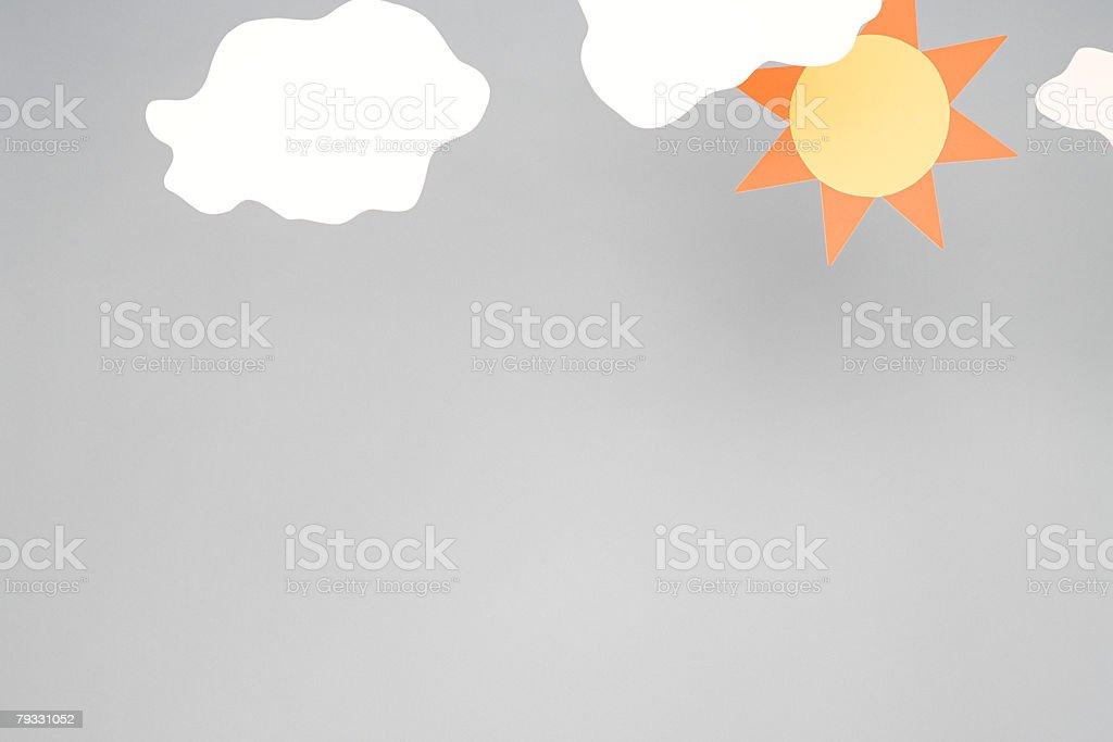 Sun and cloud 免版稅 stock photo