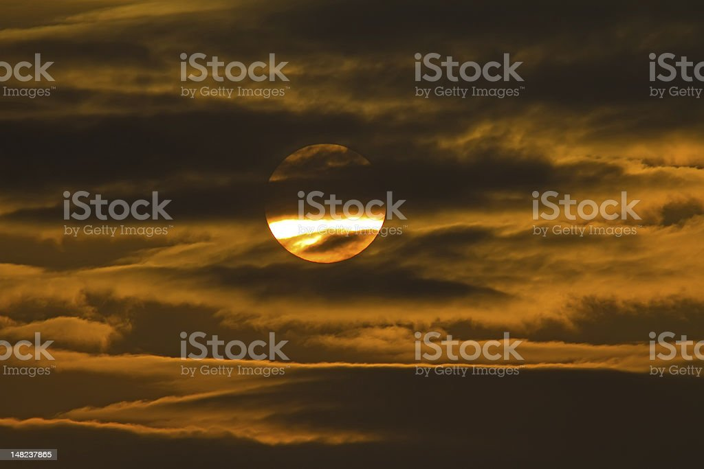 Sun And Clouds at Late Afternoon stock photo