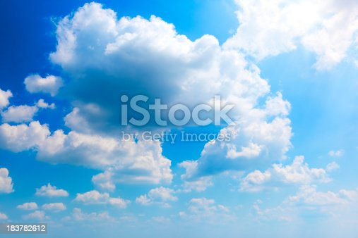 istock Sun and clouds 183782612
