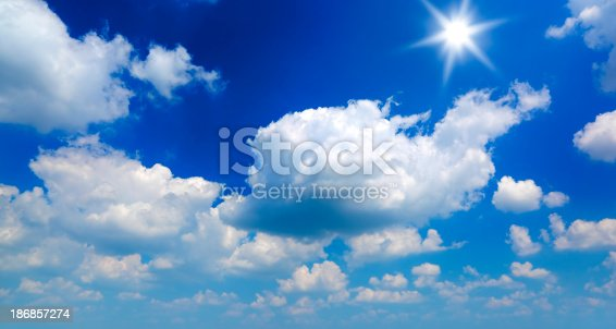 186849963 istock photo Sun and clouds 186857274