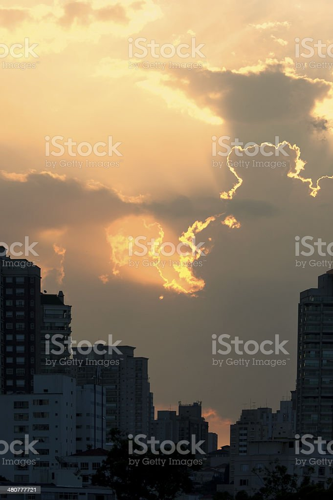 Sun and Clouds royalty-free stock photo