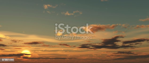 Sun And Clouds Stock Photo & More Pictures of Atmospheric Mood