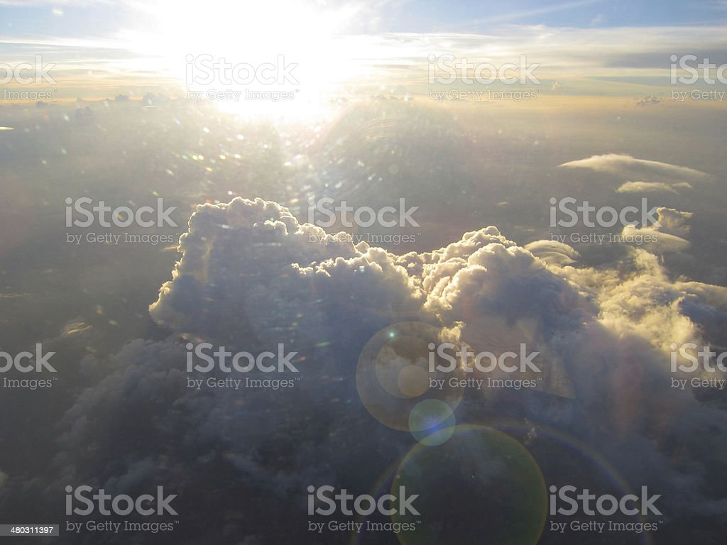 Sun and Cumulonimbus royalty-free stock photo