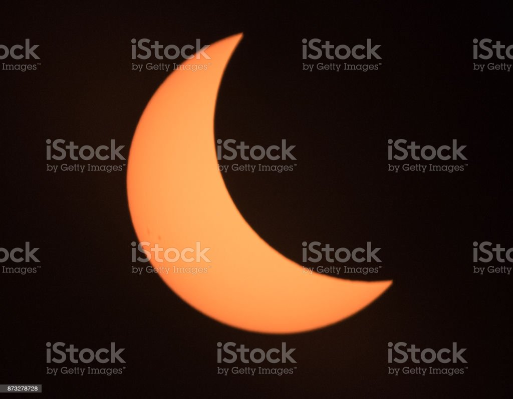Sun and Moon reversed stock photo