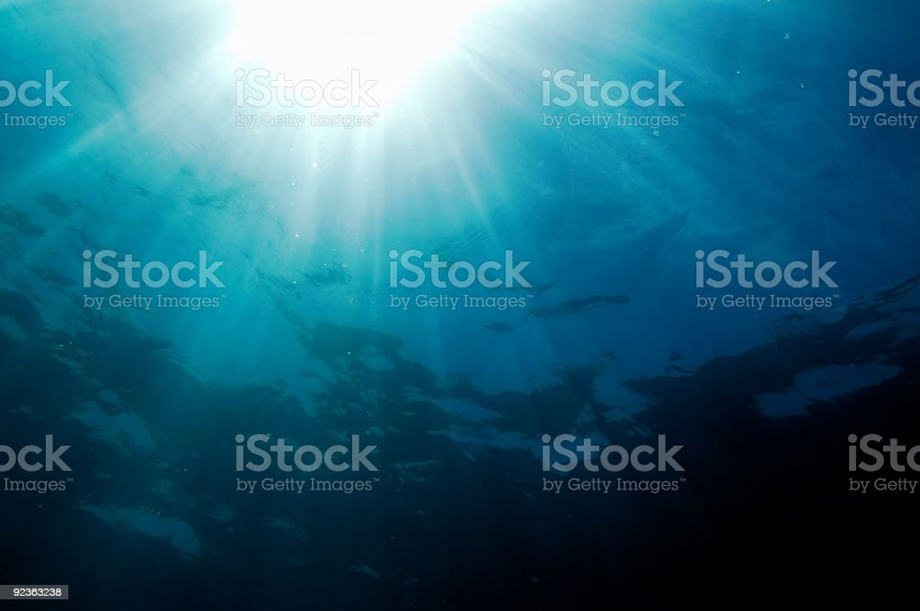 sun and ocean royalty-free stock photo