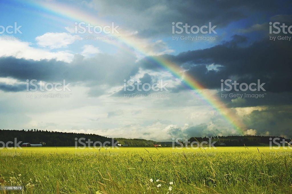 sun and rain stock photo