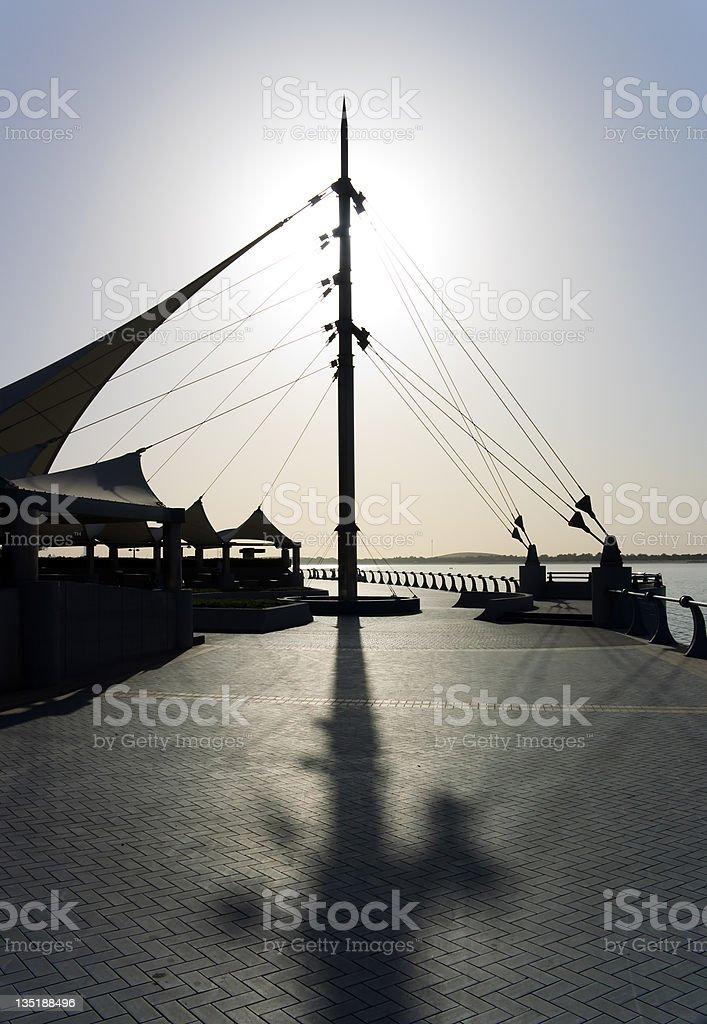 Sun and shadows on the Corniche royalty-free stock photo