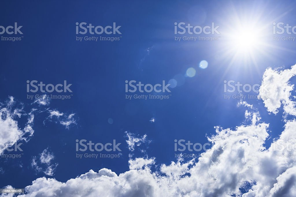 Sun and sky stock photo
