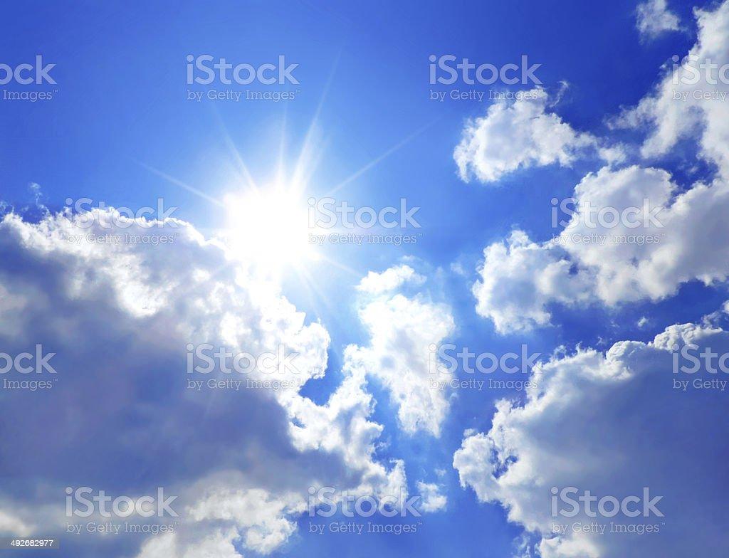 Sun and sky royalty-free stock photo