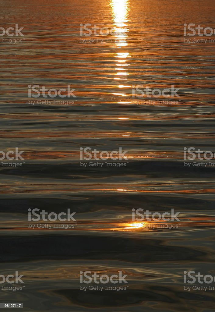 Sole e le onde sfondo foto stock royalty-free