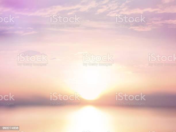 Photo of sun at sunset summer beach