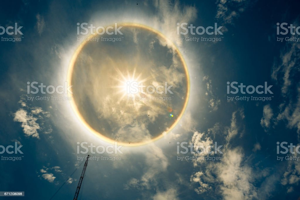 sun aura scary sun aura stock photo