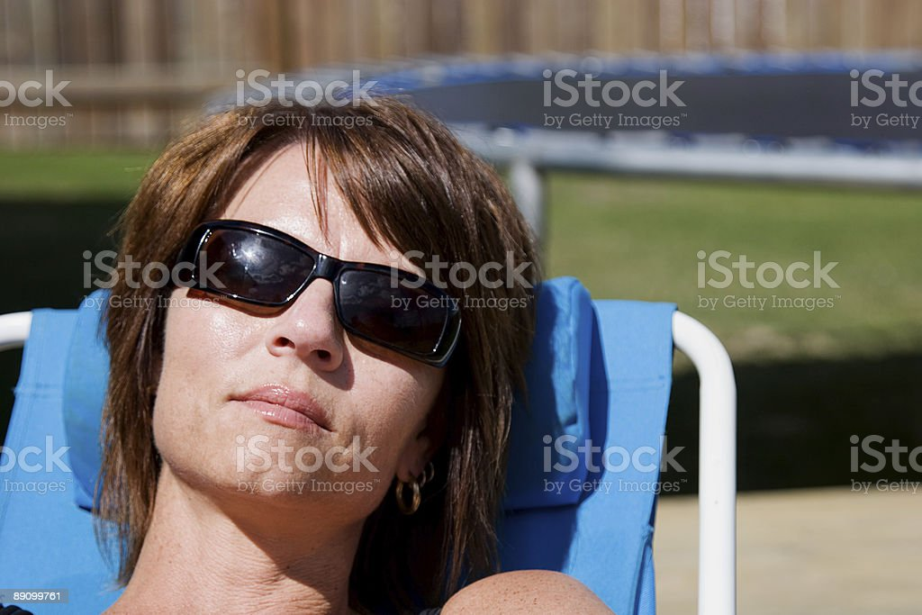 Sun bather royalty-free stock photo