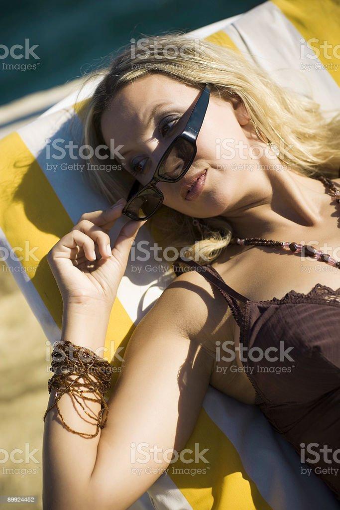 Sun Bathing stock photo
