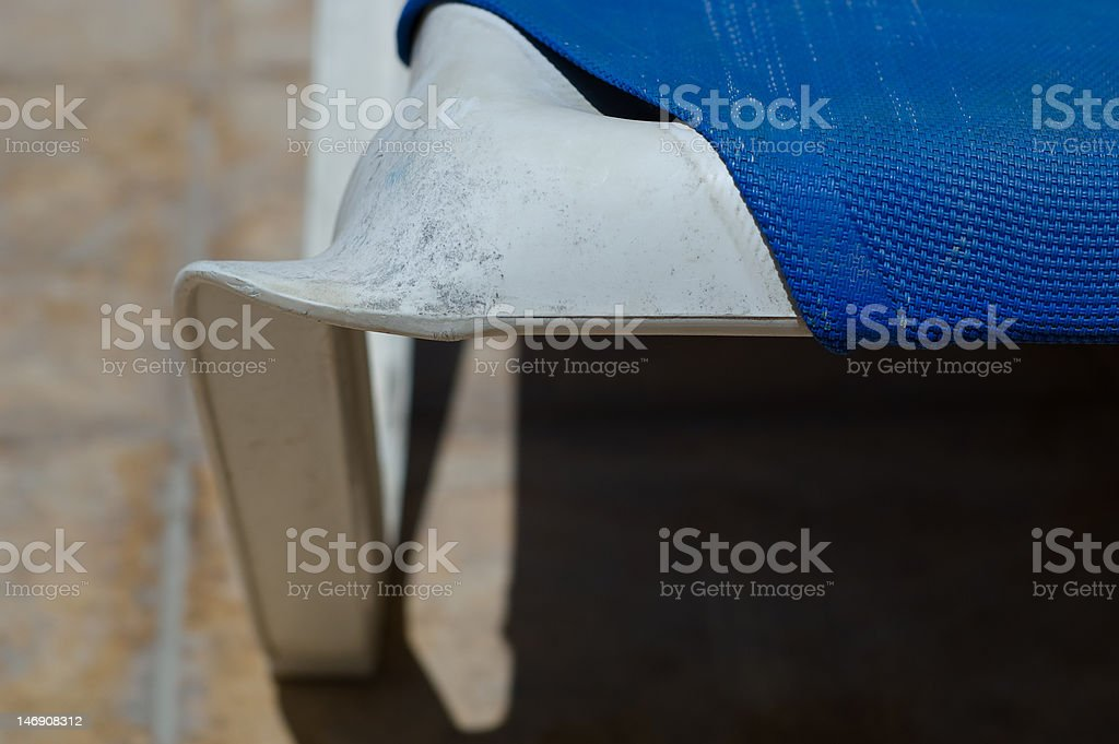 Sun bed detail stock photo