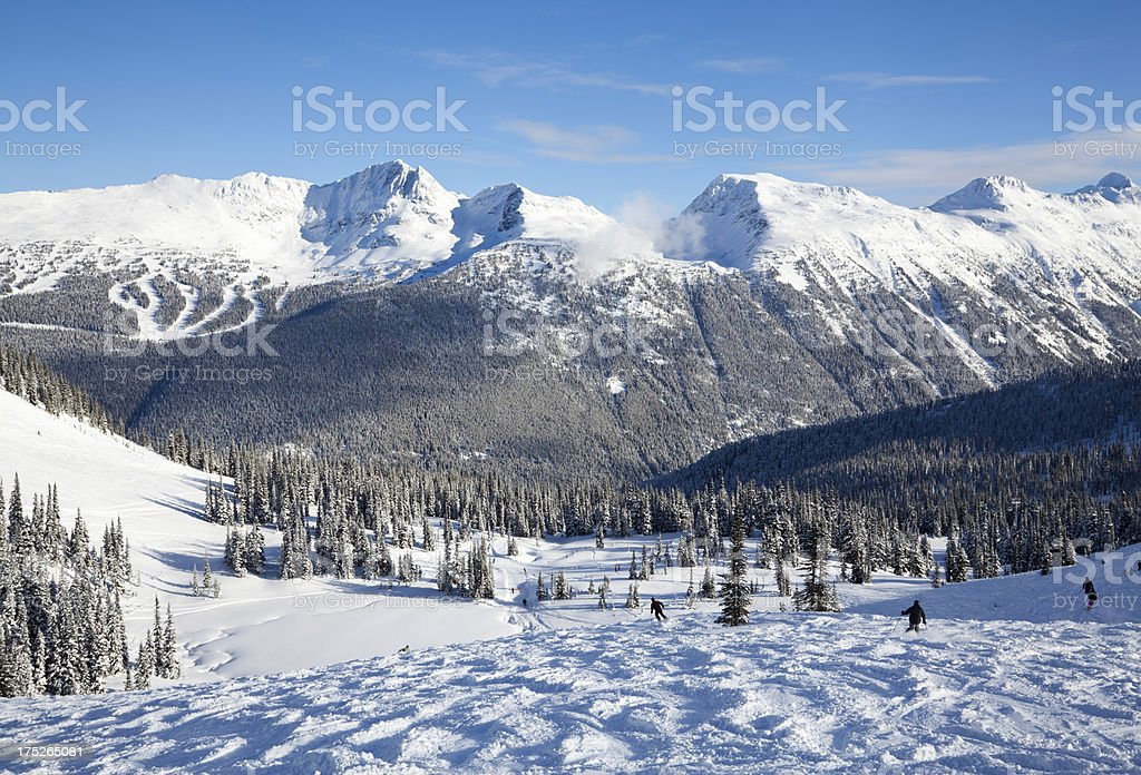Sun Bowl on Whistler Mountain royalty-free stock photo