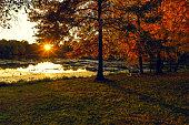 Sunset Impressions. Sunfall Landscape