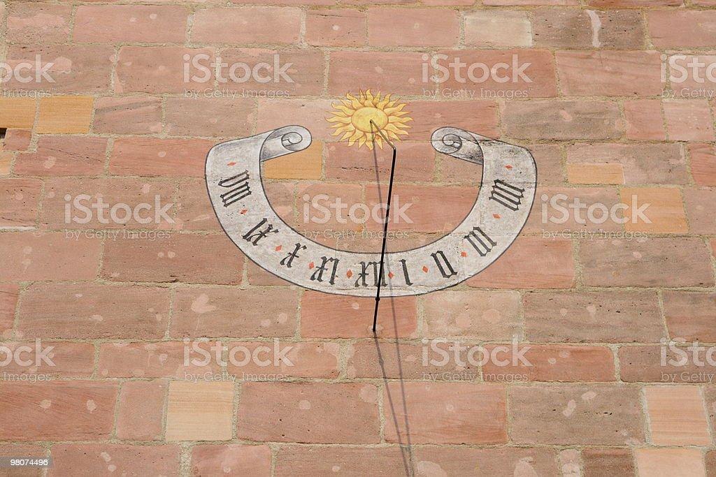 Sun clock royalty-free stock photo
