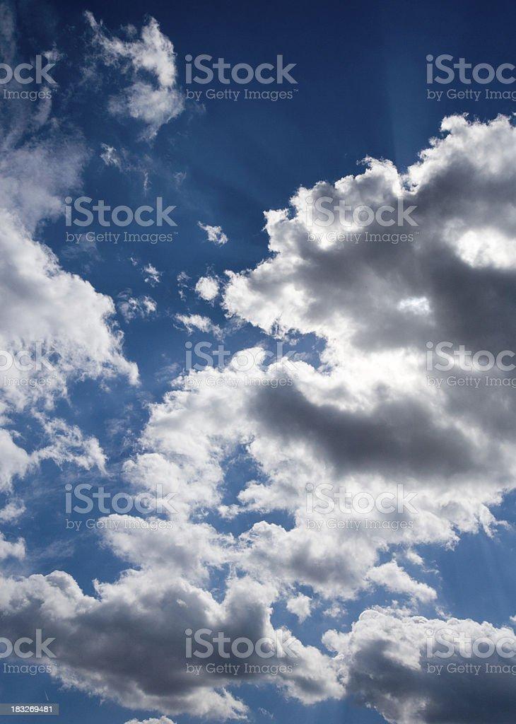 Sun Cloud Blue Sky Series royalty-free stock photo
