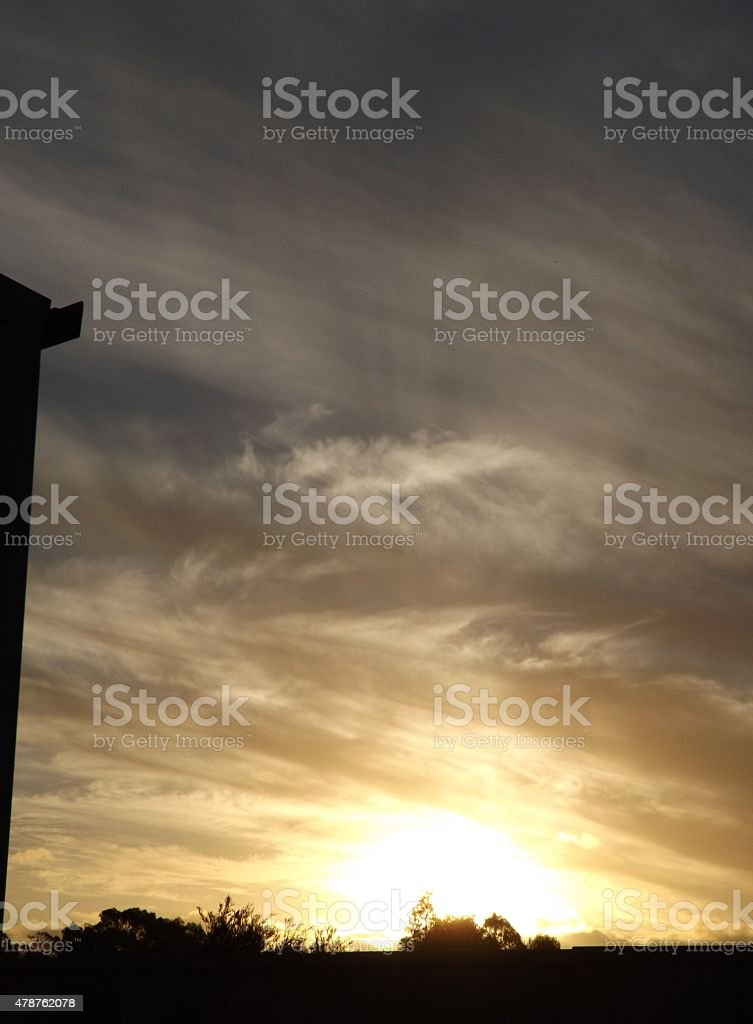 Sun Comes and Goes stock photo