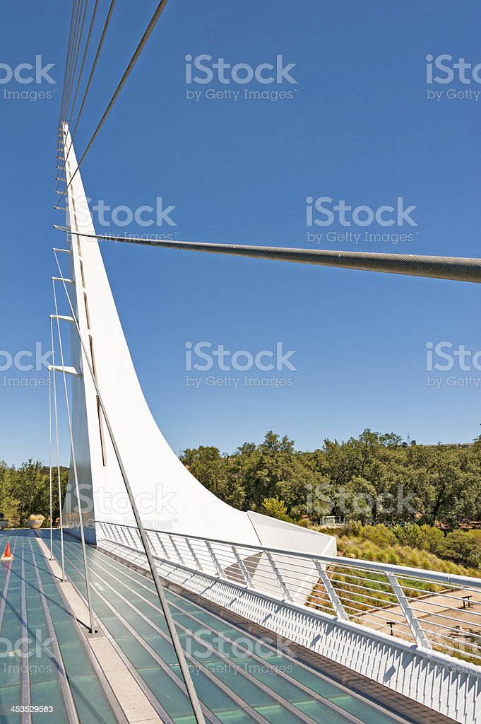 Sun Dial Bridge Cable View royalty-free stock photo