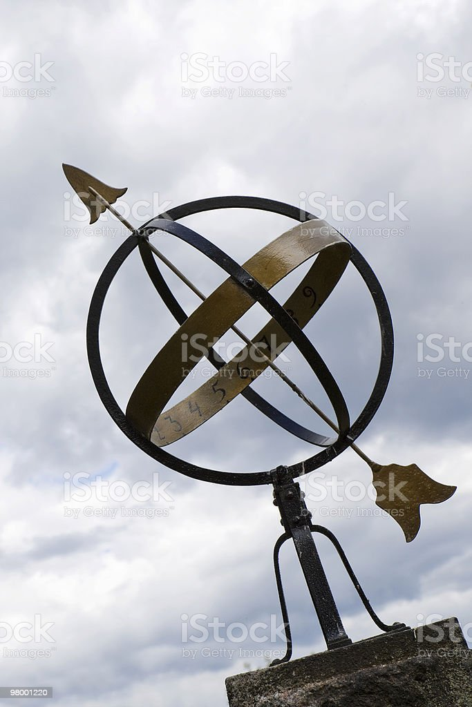 Sun dial royalty free stockfoto