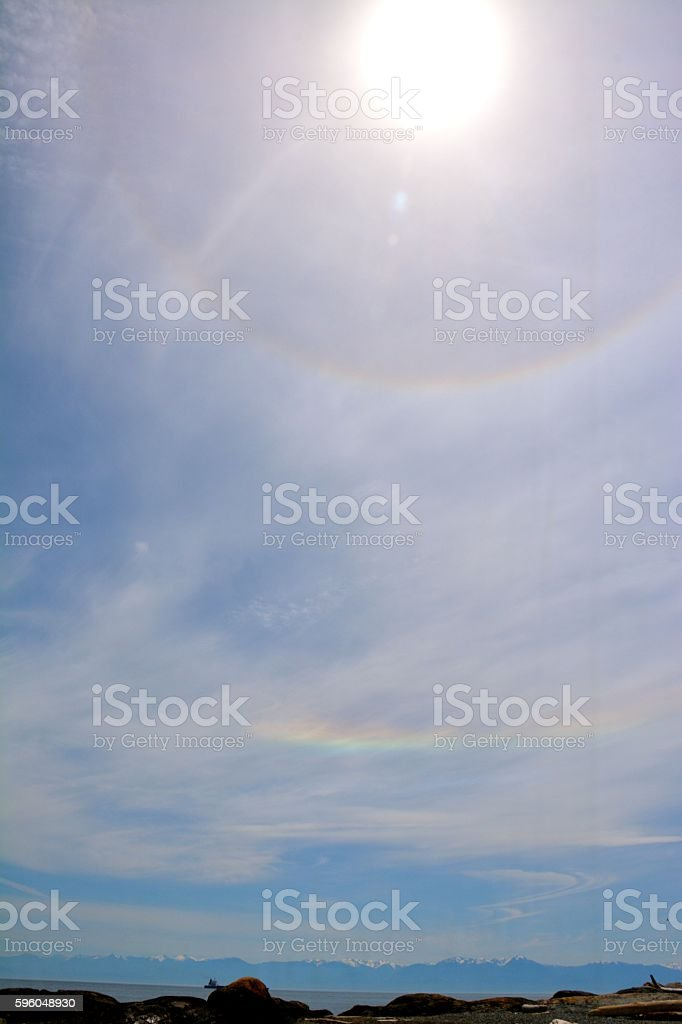 Sun Dog royalty-free stock photo