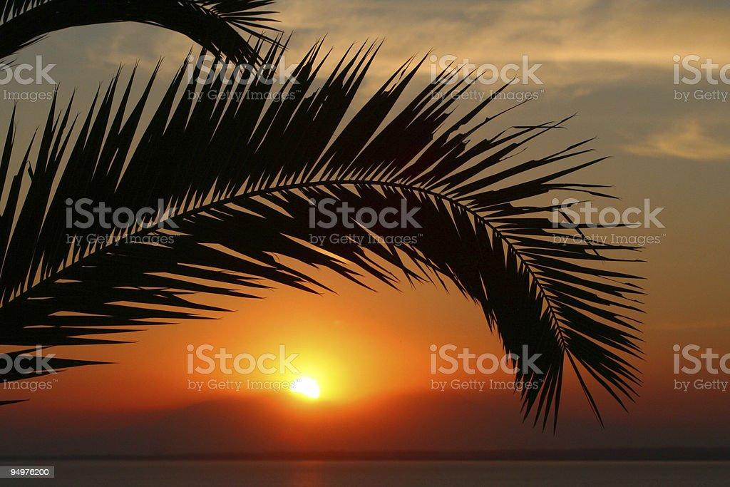 Sun down royalty-free stock photo