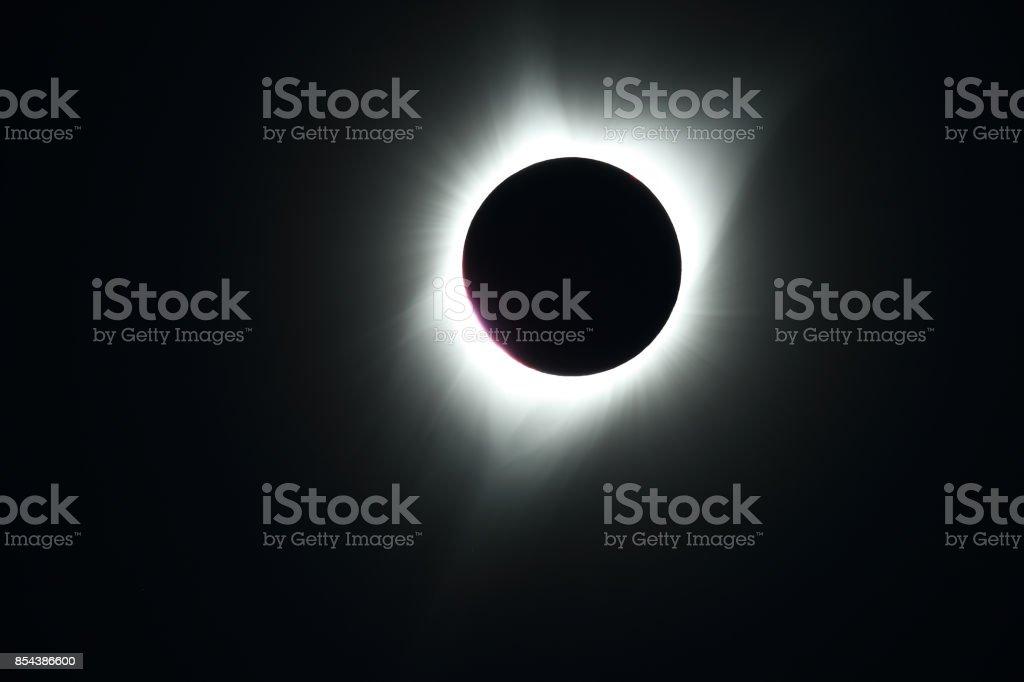 Sun eclipse August 21, 2017 Kimberly Oregon, USA stock photo