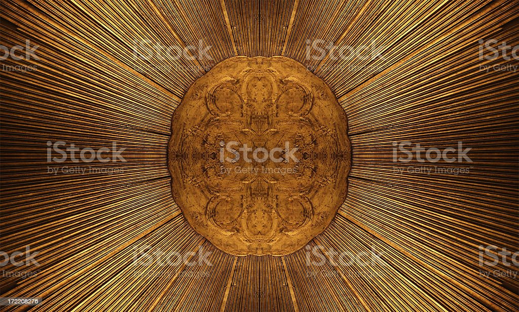 Sun Emblem Pattern royalty-free stock photo
