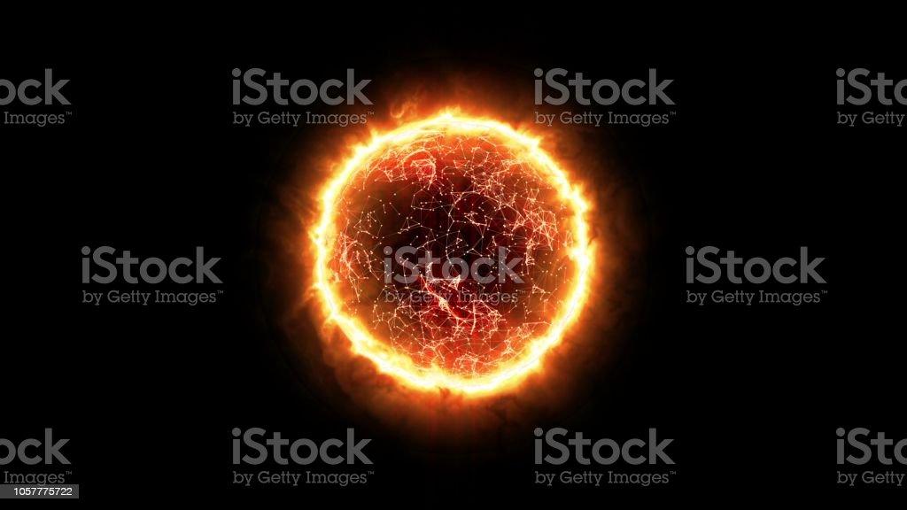 Sun Energy Ball stock photo