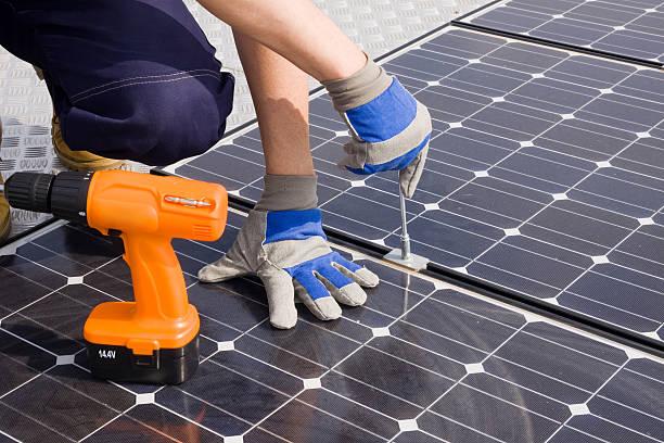 sun energy stock photo