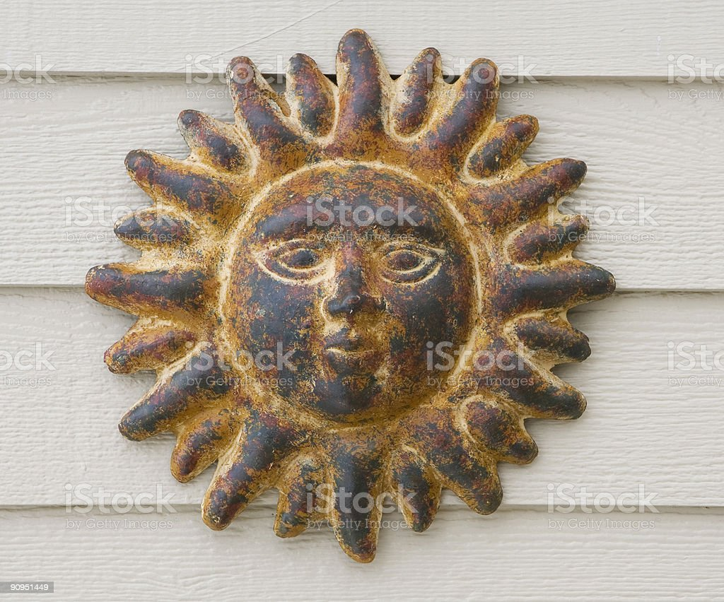 Sun Face stock photo
