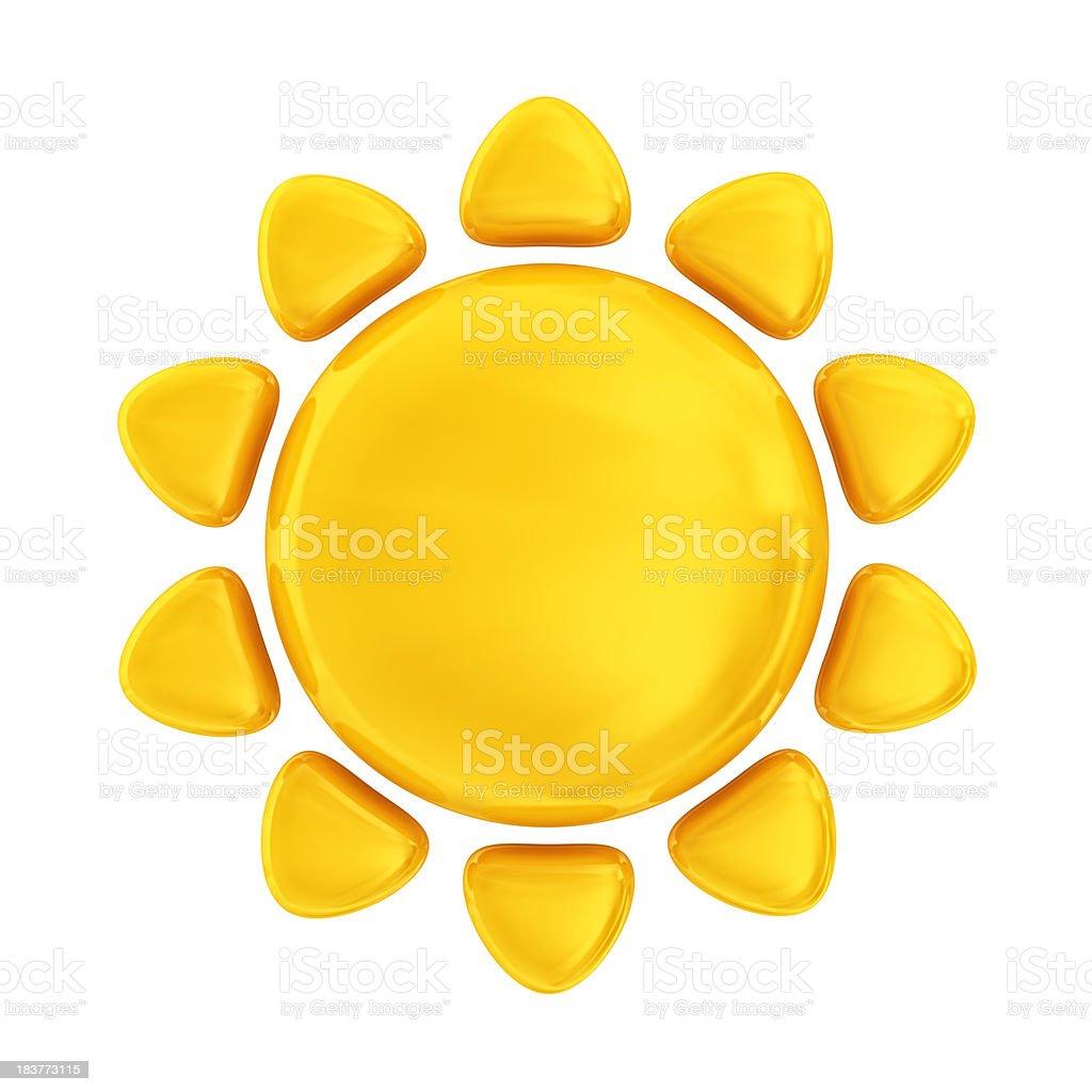 Ícone de sol - foto de acervo