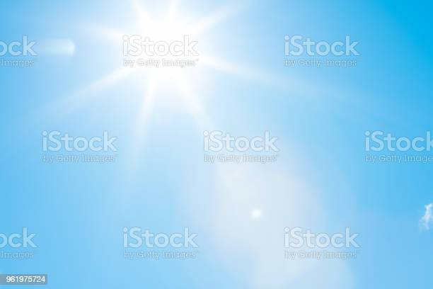 Photo of Sun in a blue sky - 50 megapixels
