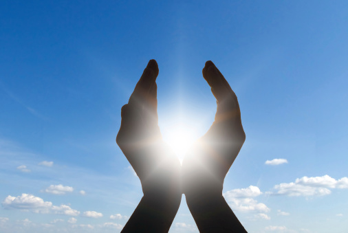 Sun In Hands Stock Photo - Download Image Now