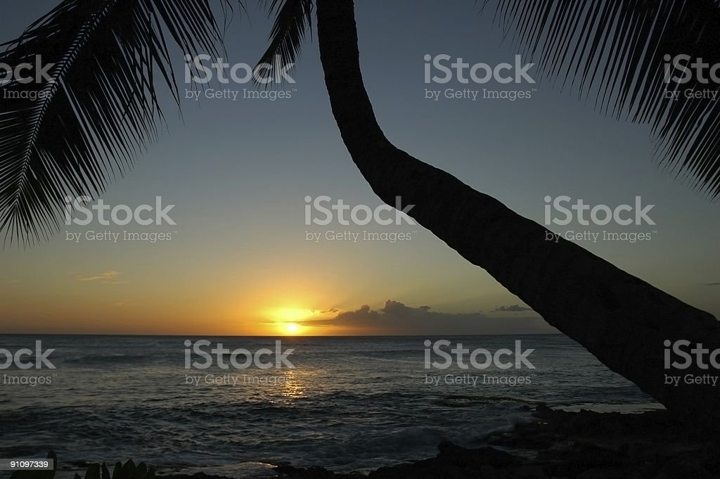 Sun in Oahu stock photo