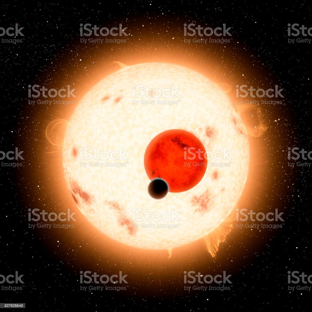 Sun in outer space stock photo