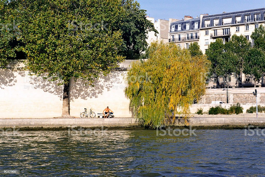 Sun in Paris royalty-free stock photo