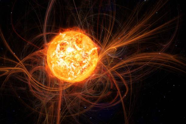 sun in space stock photo