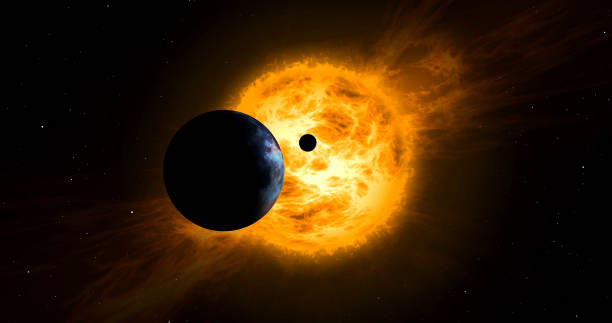 sun in space - flare foto e immagini stock